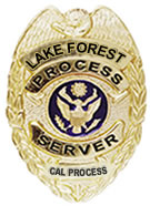 LAKE FOREST PROCESS SERVER BADGE